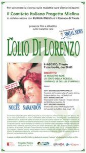 """Proiezione del film """"L'olio di Lorenzo"""" e dibattito"""